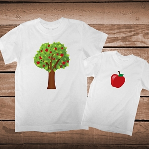 Apple Does Not Fall Far From The Tree Matching Parent Child Shirts