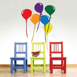 Balloons Wall Mural Decal