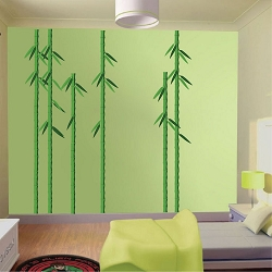 Bamboo Trees Wall Mural Decal