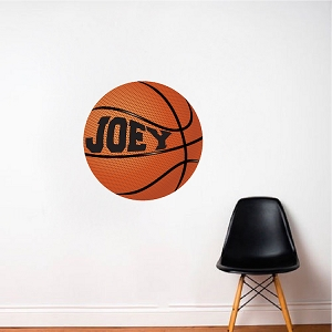 Girls and Boys Room Custom Basketball  Wallpaper Decal