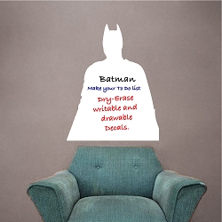 Batman Dry Erase Wall Decal