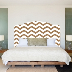 Chevron Headboard Wall Mural Decal