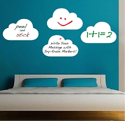 Writable Cloud Wall Decals