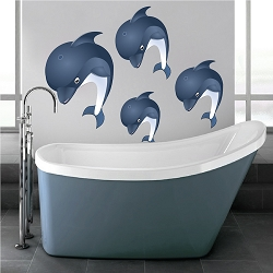 Nursery Dolphins Wall Mural Decal