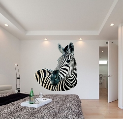 Zebra Wall Mural Decal