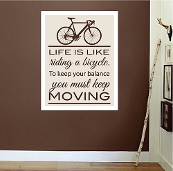 Bicycle Quote Wall Mural Decal