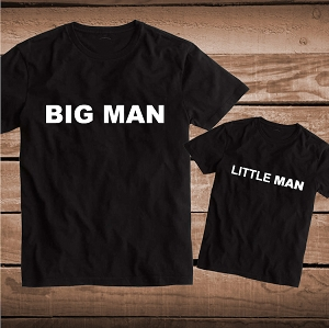 Big Man Little Man Matching Tee Great for Twins and Siblings