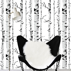 Birch Tree Self Adhesive Removable Wallpaper