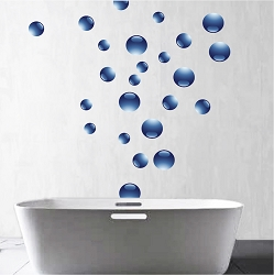 Bubbles Wall Mural Decal