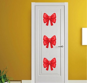 Bow Christmas Decoration Decal Stickers