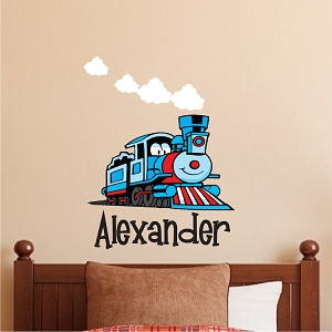 Custom Train Kids Bedroom Wall Decal