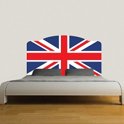 British Flag Headboard Wall Mural Decal