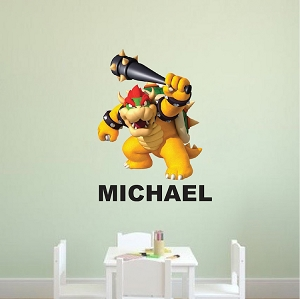 Bowser Baseball Bedroom Wall Decal