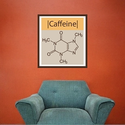 Caffeine Molecule Wall Mural Decal