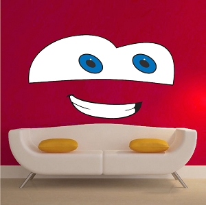 Cartoon Face Bedroom Decor