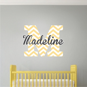 Nursery and Kids Custom Name Initial Bedroom Decal Sticker
