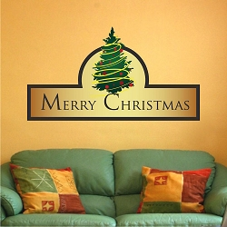 Christmas Santa Wall Decal Mural Christmas Santa Wall Design