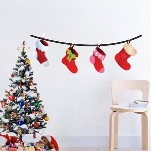 Christmas Wall Decals Decoration