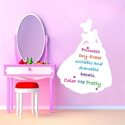 Princess Dry Erase Wall Decal