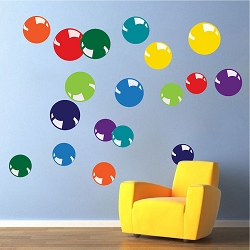 Colorful Bubbles Wall Decals