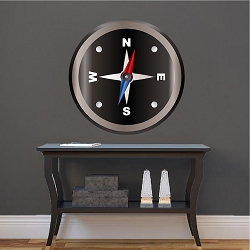 Compass Wall Mural Decal