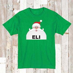 Custom Santa Beard Shirt Tee Kids T-Shirt