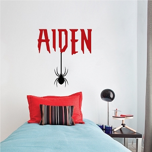 Custom Name Hanging Spider Hero Font Room Decor