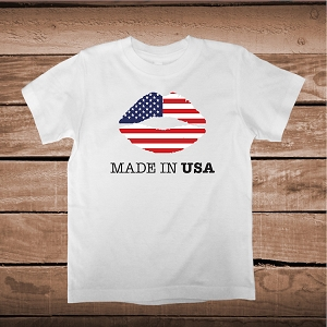 American Flag Made In USA Shirt With Lips