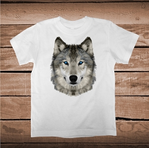 Detailed Wolf Face Custom Shirts