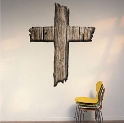 Cross Wall Decal Mural