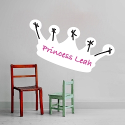 Dry Erase Princess Crown Wall Decal