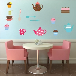 Tea Party Wall Mural Decal
