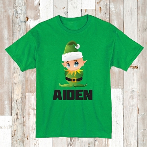 Personalized Elf Tee T-Shirt Baby Clothes
