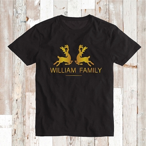 Christmas Family Deer Name Shirts