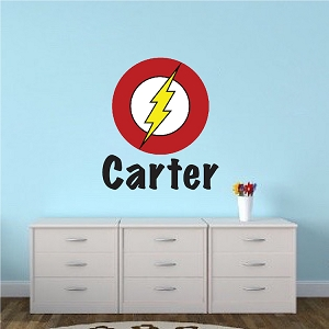 Flash Superhero Boys Room Decal