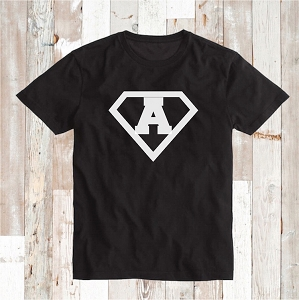 Custom Superhero Logo T-Shirt Tee Personalized Shirt