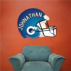 Football Helmet Wall Mural Decal