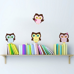 Nursery Owl Wall Mural Decal