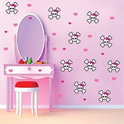 Cute Skull Wall Mural Decal