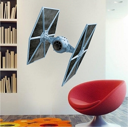 Fighter Ship Wall Mural Decal
