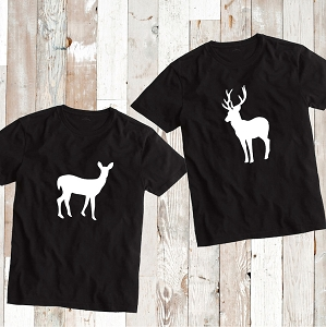 Matching Deer Buck T-Shirt Tee Family Shirt