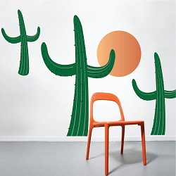 Cactus Wall Mural Decals