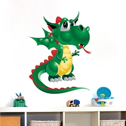 Kids Dragon Wall Mural Decal