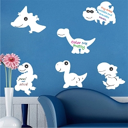 Dinosaur Dry Erase Wall Decals