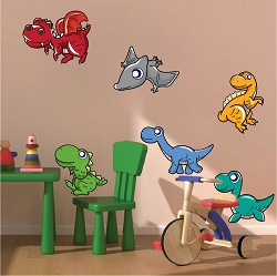 Nursery Dinosaur Wall Mural Decal