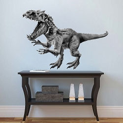 Horned Dinosaur Wall Mural Decal