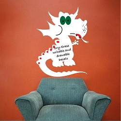 Dry Erase Dragon Wall Decal
