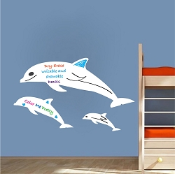 Dolphin Dry Erase Decal