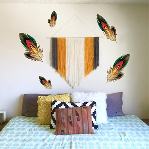 Beautiful Feather Wall Decals