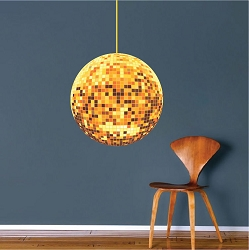 Gold Disco Ball Decal